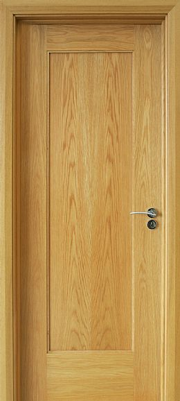 Shaker 1 Panel White Oak Door (40mm)